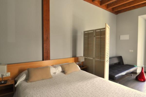Apartamento-estudio Casa Adón. Cama de matrimonio y sofá cama individual